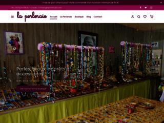 Détails : Perles de verre et perles de rocaille