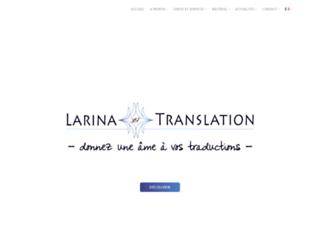 Détails : Larina traduction, traduction et interprétation franco-russe