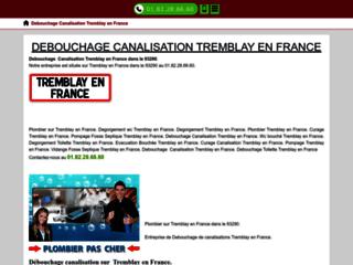 Debouchage Canalisation Tremblay en France.