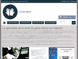 Le gant blanc : site web pour les mains