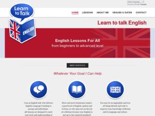 Détails : Learn to Talk English, cours d'anglais particuliers à domicile ou par internet
