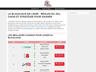Le guide du blackjack en ligne