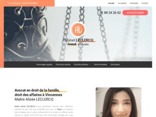 Avocat en droit de la famille, droit des affaires à Vincennes Maître Alizée LECLERCQ