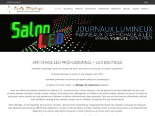 Affichage électronique sur www.led-boutique.fr