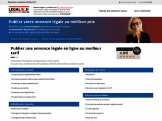 Détails : Annonces légales en ligne