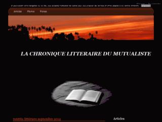 la chronique littéraire du mutualiste