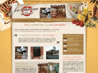 Les Authentiques du Terroir, conserverie artisanale, Coursac