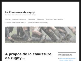 Détails : Présentation de la chaussure de rugby