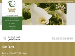 Détails : Les bouquets d'Élise, compositions florales à Fretin