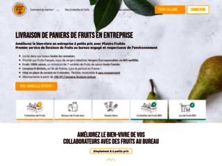 Les Plaisirs Fruités, livraison de corbeille de fruit au bureau