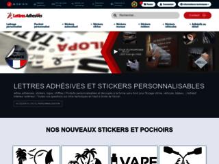 Détails : Lettres adhésives, lettrage adhésif personnalisé