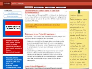 Détails : Informations interdit bancaire