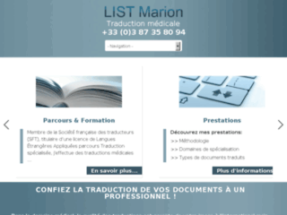Traduction médicale - traduction médecine : LIST Marion
