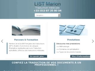 Détails : Marion List : traductrice médicale expérimentée