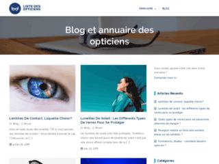 Blog et annuaire d'opticiens