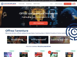 Live Escape Box - Le 1er Coffret Cadeau Escape Game en France