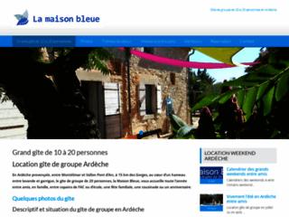 Gîte de groupe en Ardèche, la Maison Bleue