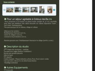 Détails : Location studio à Gréoux : pour votre cure à Gréoux les bains