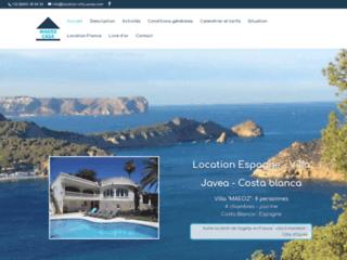 Location Espagne - villa Javea - Costa Blanca
