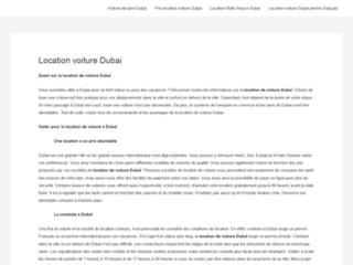 Guide sur la location de voiture à Dubaï