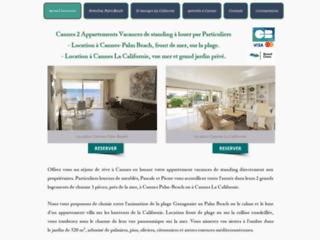 Détails : Location appartement Cannes Palm Beach front de mer