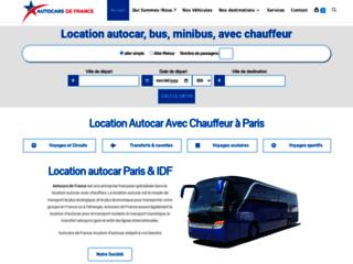 Détails : Location bus, autocar, minibus avec chauffeur en France