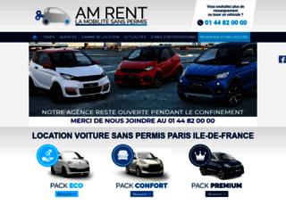 Location voiture sans permis Paris 75 - AM Rent