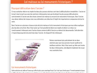 Différence loi monuments historiques ou loi malraux