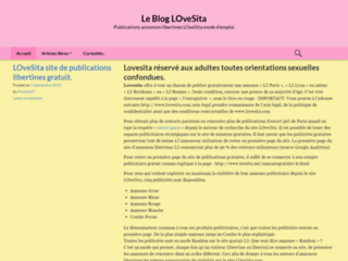 Détails : Le blog de Lovesita: le blog officiel du site internet