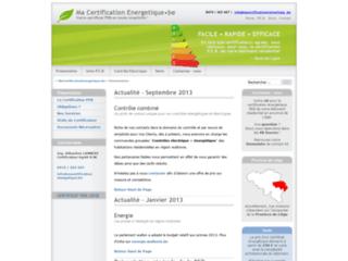 Détails : Le certificat énergétique PEB à Liège