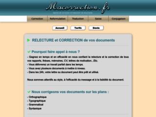 Détails : Ma Correction, service de correction de documents