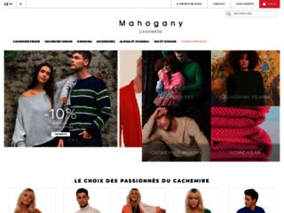 Détails : Mahogany cachemire, une boutique en ligne de vêtements en cachemire