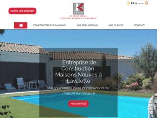 Maisons Kaelis : Entreprise de construction de maisons neuves à Lavalette