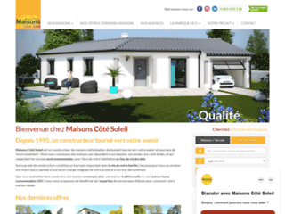 Détails : Le bon choix pour sa maison, c'est Maisons Côté Soleil !