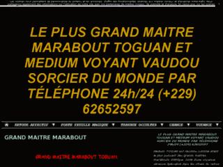 Détails : LE PLUS GRAND MAITRE MARABOUT TOGUAN ET MEDIUM VOYANT VAUDOU SORCIER DU MONDE PAR TÉLÉPHONE 24h/24 (+229) 62652597