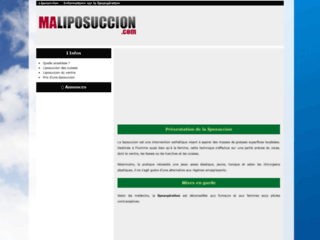 Info sur la liposuccion