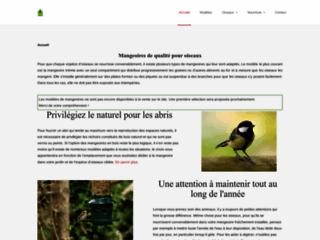 Détails : Mangeoire d'oiseaux artisanales en bois