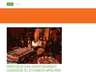 PROFESSEUR JEAN-VOYANT MEDIUM MARABOUT GUERISSEUR TEL 0755888393.