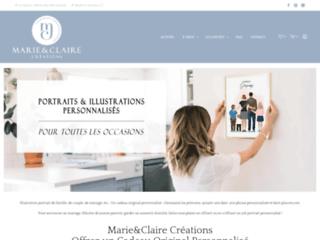Marie and Claire: boutique de portraits personnalisés à offrir