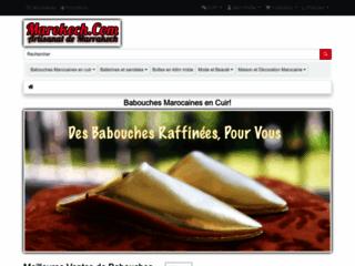 Détails : Babouches marocaines