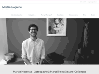 Martin Nogrette : Ostéopathe à Marseille et à Simiane-Collongue