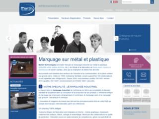 Marquage sur métal et plastique - Martin Technologies