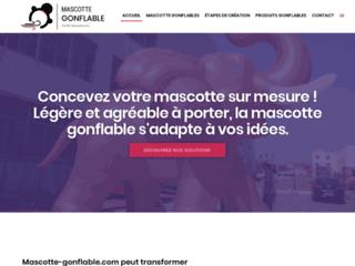 Détails : Mascotte Gonflable