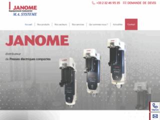 Distributeur des presses électriques Janome et des robots scara