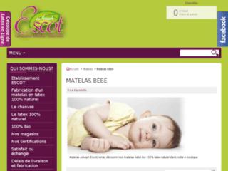 Détails : Matelas bébé bio