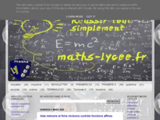 Maths Lycee