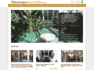 Détails : Mauresque Immobilier : agence immobiliere marrakech