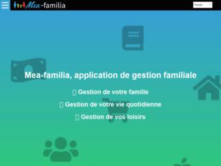 Mea-familia, l'application de gestion familiale