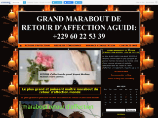 Détails : GRAND MARABOUT DE RETOUR D'AFFECTION  AGUIDI: +229 60 22 53 39