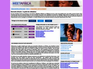 Site de rencontre africaine pour trouver des célibataires : Meetafrica.net